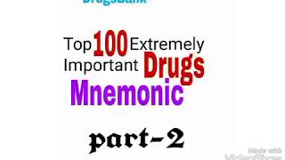 Top 100 drugs extremely important mnemonic |Most amazing remembering tricks | part-2