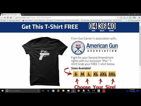 American Gun Association T Shirts Get A FREE Ipac T Shirt!