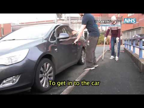Getting in and out of the car after a hip replacement