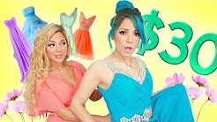 TRYING ON PROM DRESSES UNDER $30!!