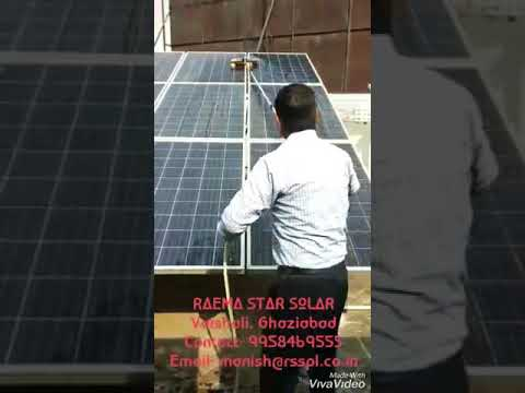 Low cost solar module cleaning brush