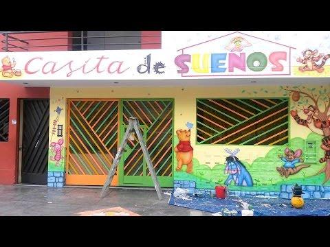 Como decorar guarderias pintar mural en fachada de for Murales infantiles para preescolar