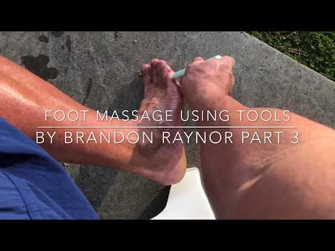 Raynor massage on the feet using massage tools. Self massage. Reflexology. Deep foot massage pt 3