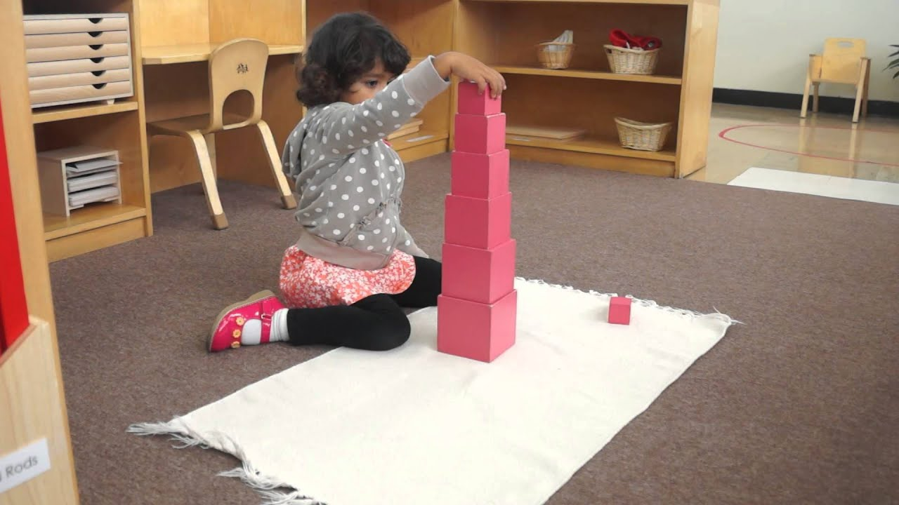 Good Neighbor Montessori - Pink Tower - YouTube