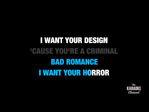 "Bad Romance in the Style of ""Lady Gaga"" karaoke video with lyrics (no lead vocal)"