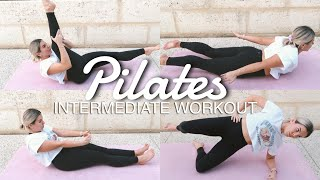 INTERMEDIATE 20 MIN PILATES MAT WORKOUT ★ NO EQUIPMENT ★ EASY OPTIONS ★ JAZ HAND