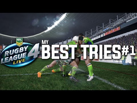 Rugby League Live 4 - My BEST Tries - #1 (RLL4 BEST TRIES)