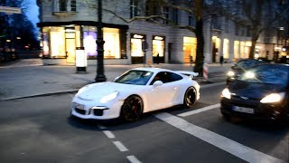 Brand new LOUD Porsche 991 GT3 insane acceleration in Berlin!