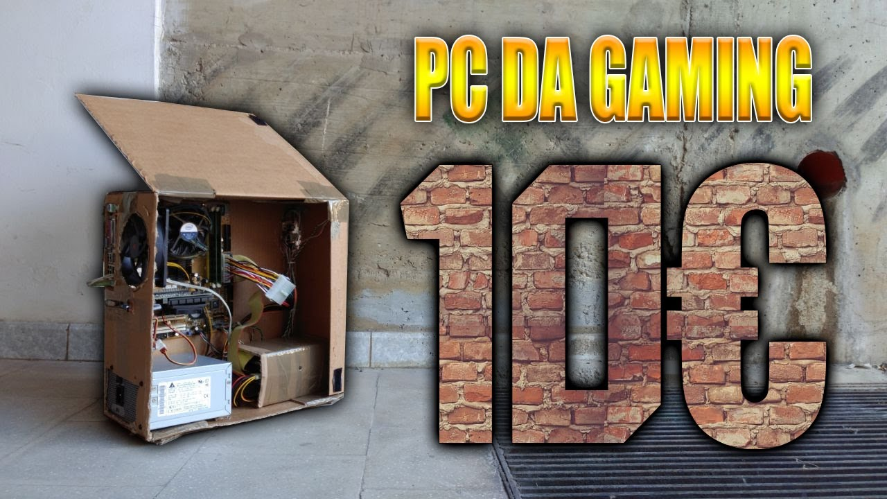 Pc gaming da u ac 😲 di cartone 📦 youtube