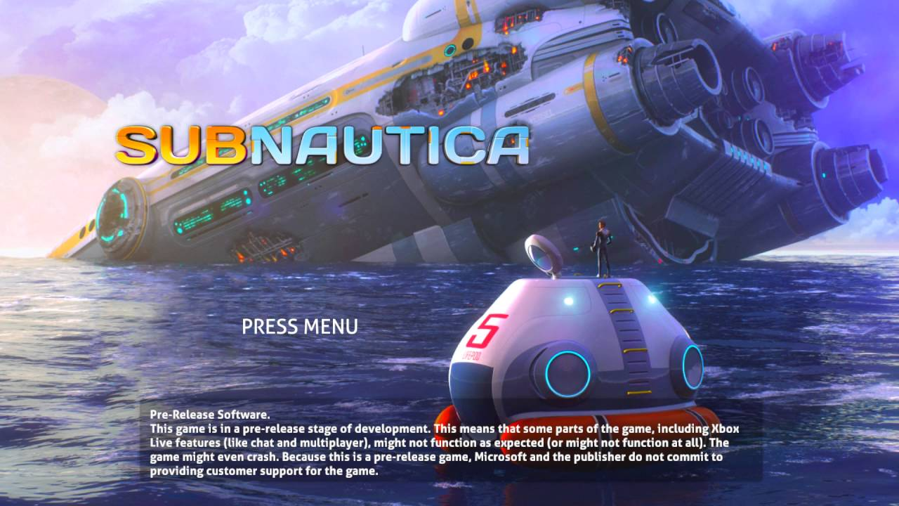 Subnautica Title Screen Pc Xbox One Youtube