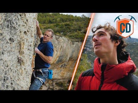 Adam Ondra Teaches Matt To Sport Climb   Climbing Daily Ep.1150