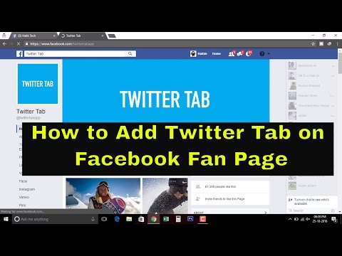 How to add twitter Tab on Facebook Fan Page