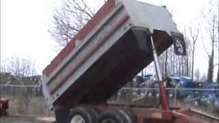 Sold! Lynn 8.5 Yard T/A Pup Trailer Hydraulic 13' Steel Dump Bed bidadoo.com