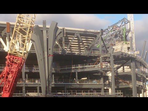 Tottenham's new stadium 12/11 South Stand takes shape with supporting 'trees' installed