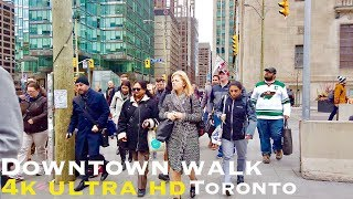Downtown Toronto Walk  Front St, Spadina Ave, Bremner Blvd walking tour 4k