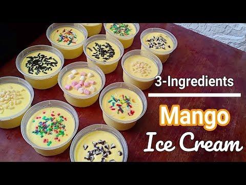 How To Make Mango Ice Cream Recipe   3 Ingredients