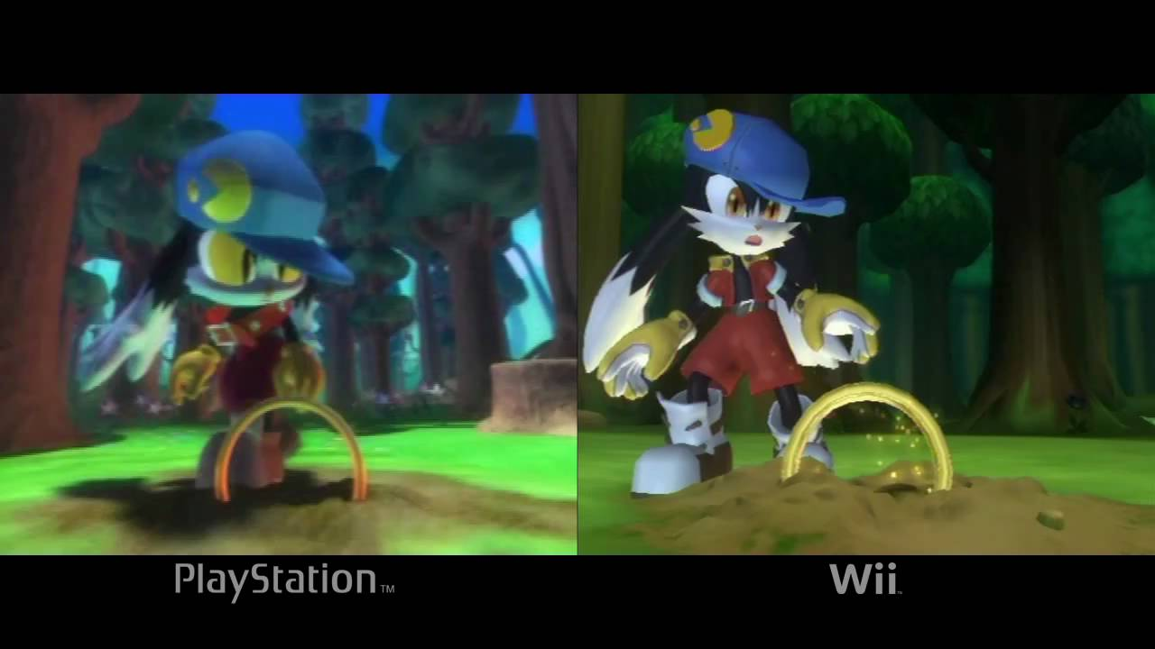 klonoa playstation vs wii comparison youtube