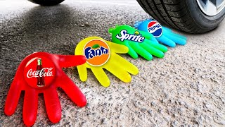 Crushing Crunchy & Soft Things by Car! Experiment Car vs Cola, Fanta Slime M&Ms Surprise Toys