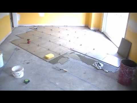 Watch This Ceramic Tile Kitchen Floor Professional Installation (2/3 ...