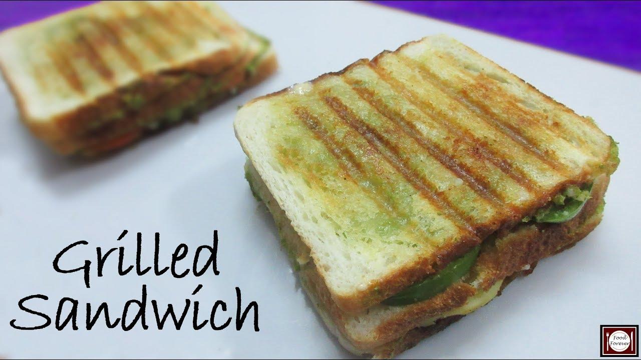 Veg Grilled Sandwich Easy Grilled Sandwich Recipe Cheese Grilled Sandwich Quick Sandwich Recipe Youtube