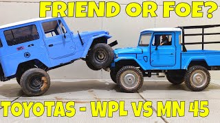 THE TOYOTAs - WPL C34 FJ40 VS MN FJ45 MODEL - FRIEND OR FOE ?