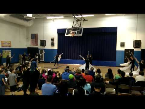 Bethany Community School - night of the Arts - Winter Guard