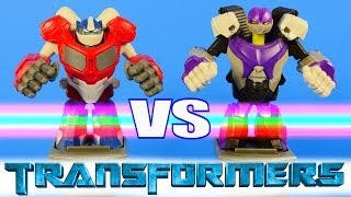 Transformers Battle Masters Optimus Prime Vs MegaTron Fight Night Toys Review Disney Cars Toy Club