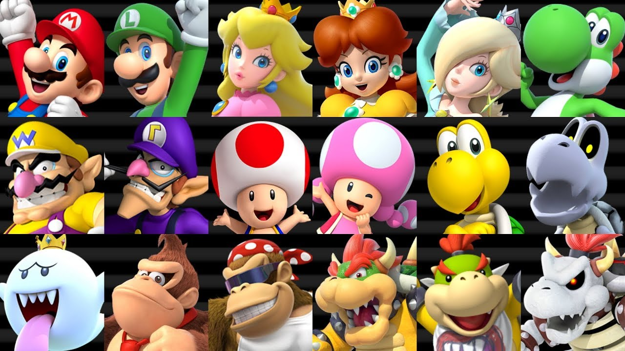 Mario Kart Wii Hd All Characters Youtube