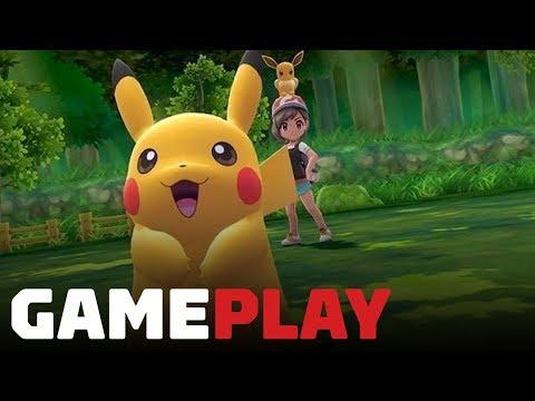 35 Minutes of New Pokemon: Let's Go, Pikachu! Gameplay - Nintendo Treehouse Live