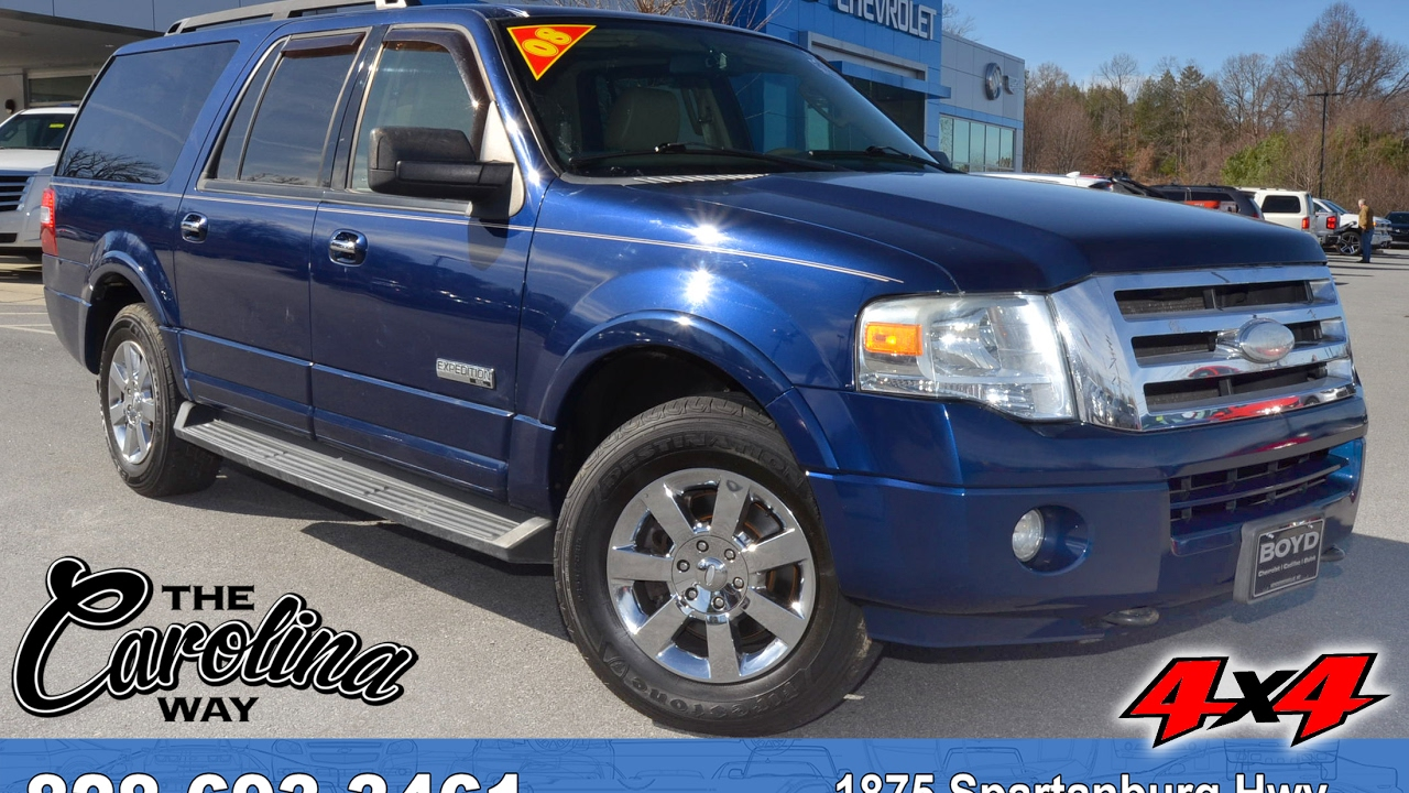 U27285 2008 Ford Expedition El Xlt Dark Blue Pearl