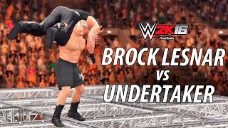 WWE 2K16 - Brock Lesnar vs Undertaker | Hell In A Cell Match Gameplay