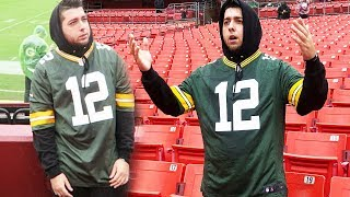 WEARING A PACKERS JERSEY TO A FOOTBALL GAME
