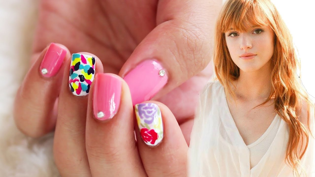 Summer Ready Nails ♥ Bella Thorne Inspired - YouTube
