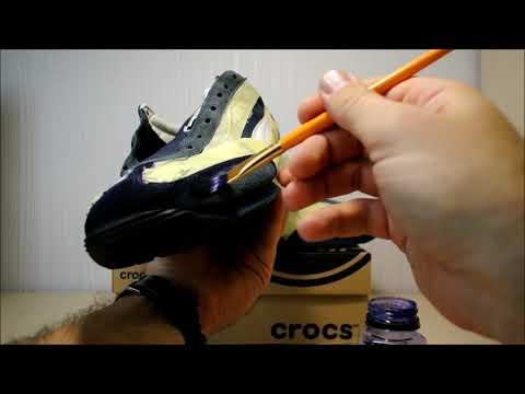 Как покрасить синие кроссовки