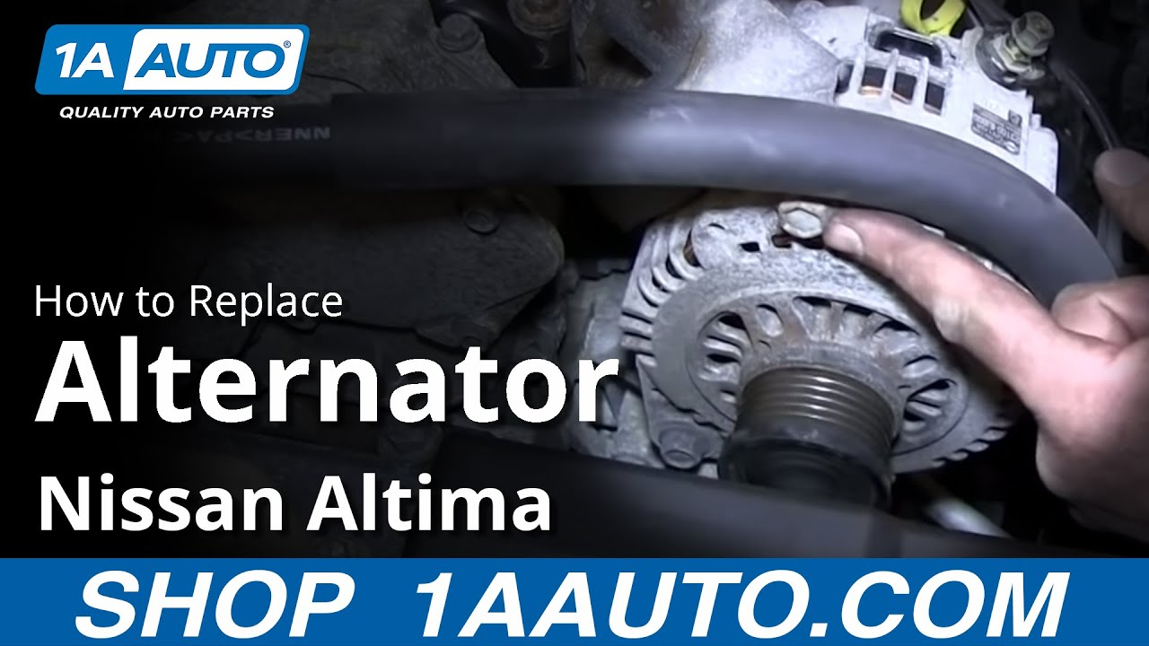 hight resolution of how to install replace alternator 2 5l 2002 06 nissan altima sentra