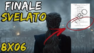 LEAK RIVELA L'AGGHIACCIANTE FINALE - Il Trono di Spade Stagione 8 - Game Of Thrones leaks