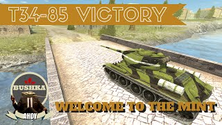 World Of Tanks Blitz   T34 85 Victory The Bank of Stalin