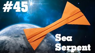 How to make a paper airplane that Flies - Simple Origami paper planes for Kids #45| Sea Serpent