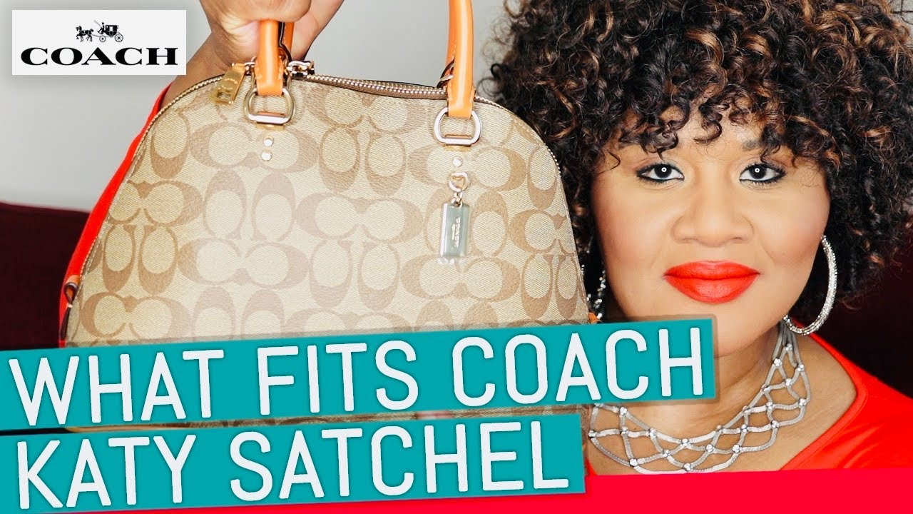 What Fits In My Bag 2020 | Coach Katy Satchel