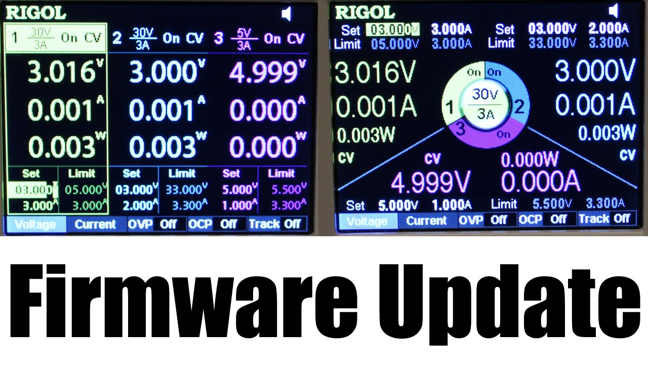 Rigol DP832 / DP832A - How to Update Firmware to add