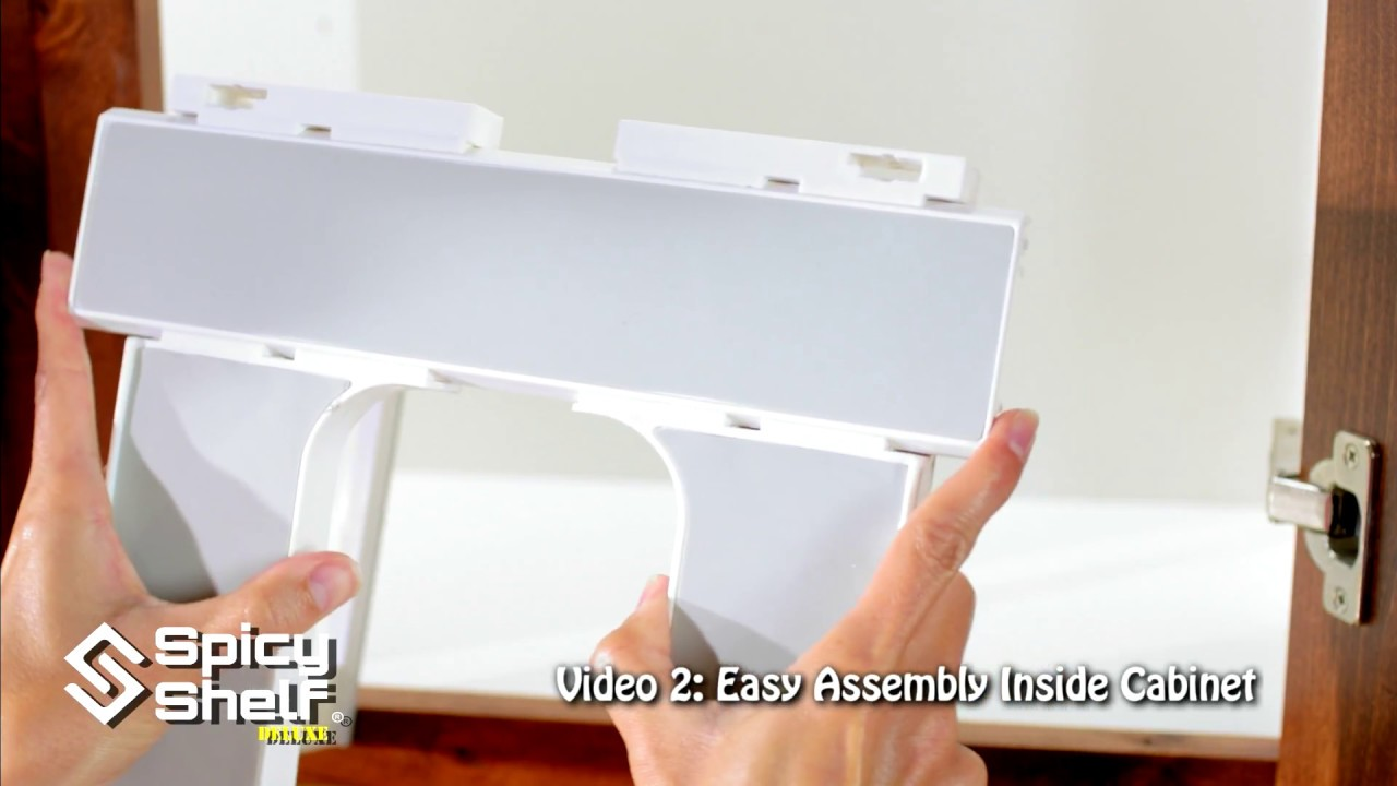 02 Easy Assembly Inside A Cabinet | Spicy Shelf® Deluxe spice rack ...