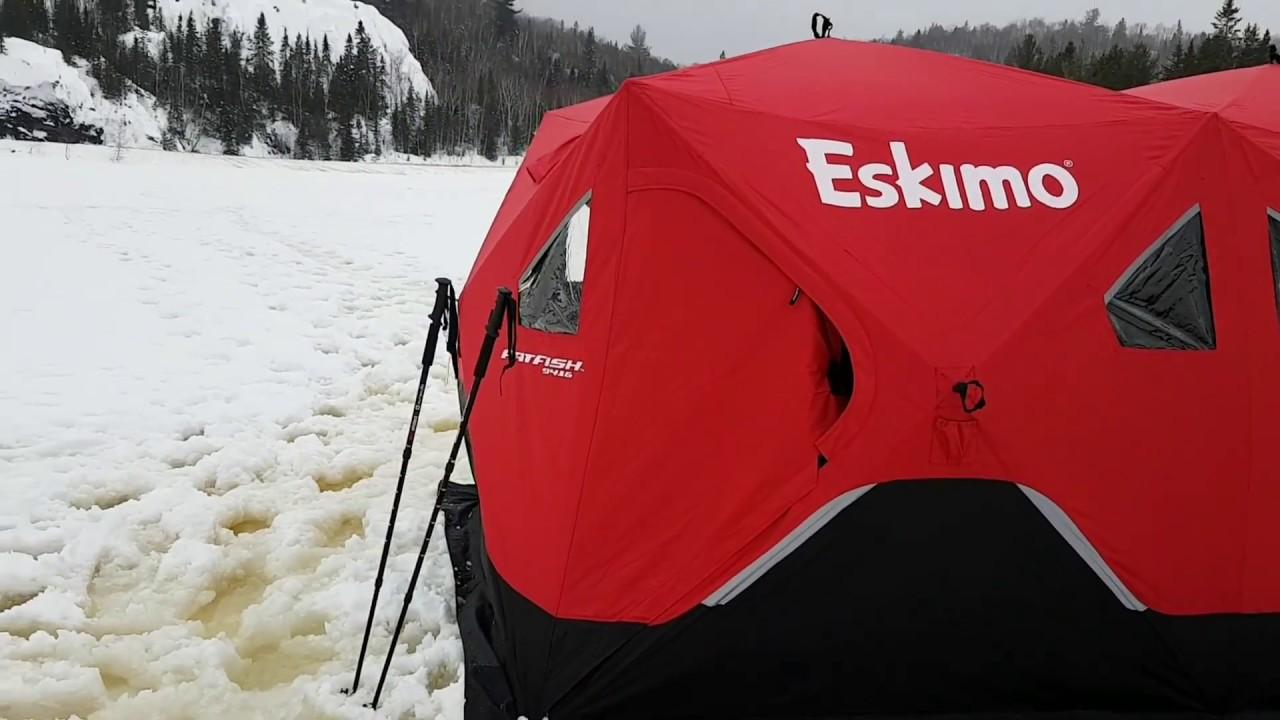 Eskimo fatfish 9416 hot tent  military wood stove  ice fishing & Eskimo fatfish 9416 hot tent  military wood stove  ice fishing ...