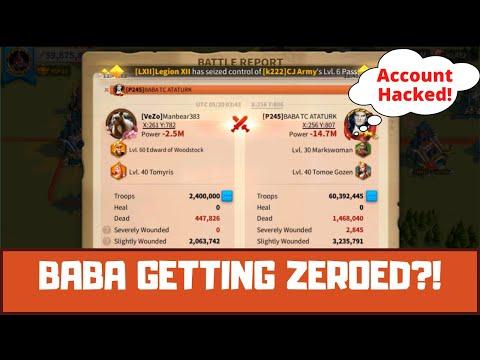 K239 Tries To Zero 690 Mil Power BABA TC ATATURK! His Account Got Hacked! Millions Dead! RoK