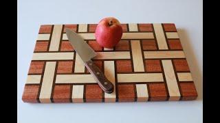 Making a Basket Weave/Ribbon Style Cutting Board Tutorial
