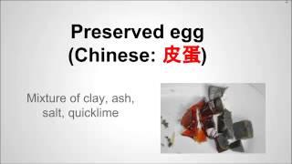 Century Egg For Cantonese Congee