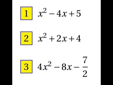 Première Spé maths- Second degré-Ex8- Mise sous forme ...