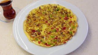 Patatesli omlet tarifi - Pratik, nefis kahvaltılık tarif - Ev Lezzetleri