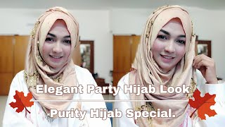 Elegant Party Hijab Look Purity Hijab Special | Pari ZaaD ❤️