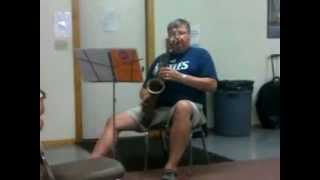 John Tanko Sax Solo - 2012 Sac Trad Jazz Camp: