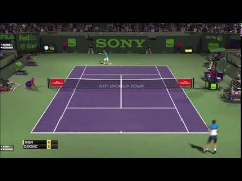 Tennis Elbow 2013 - Dominic Thiem vs Novak Djokovic - Miami Open 2016